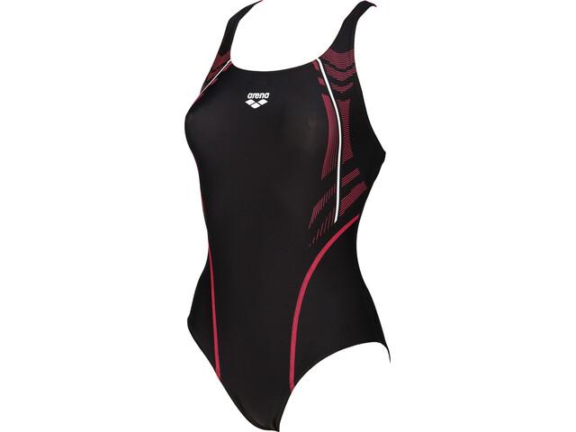 arena Energy Swim-Pro One Piece Badeanzug Damen black-fluo red